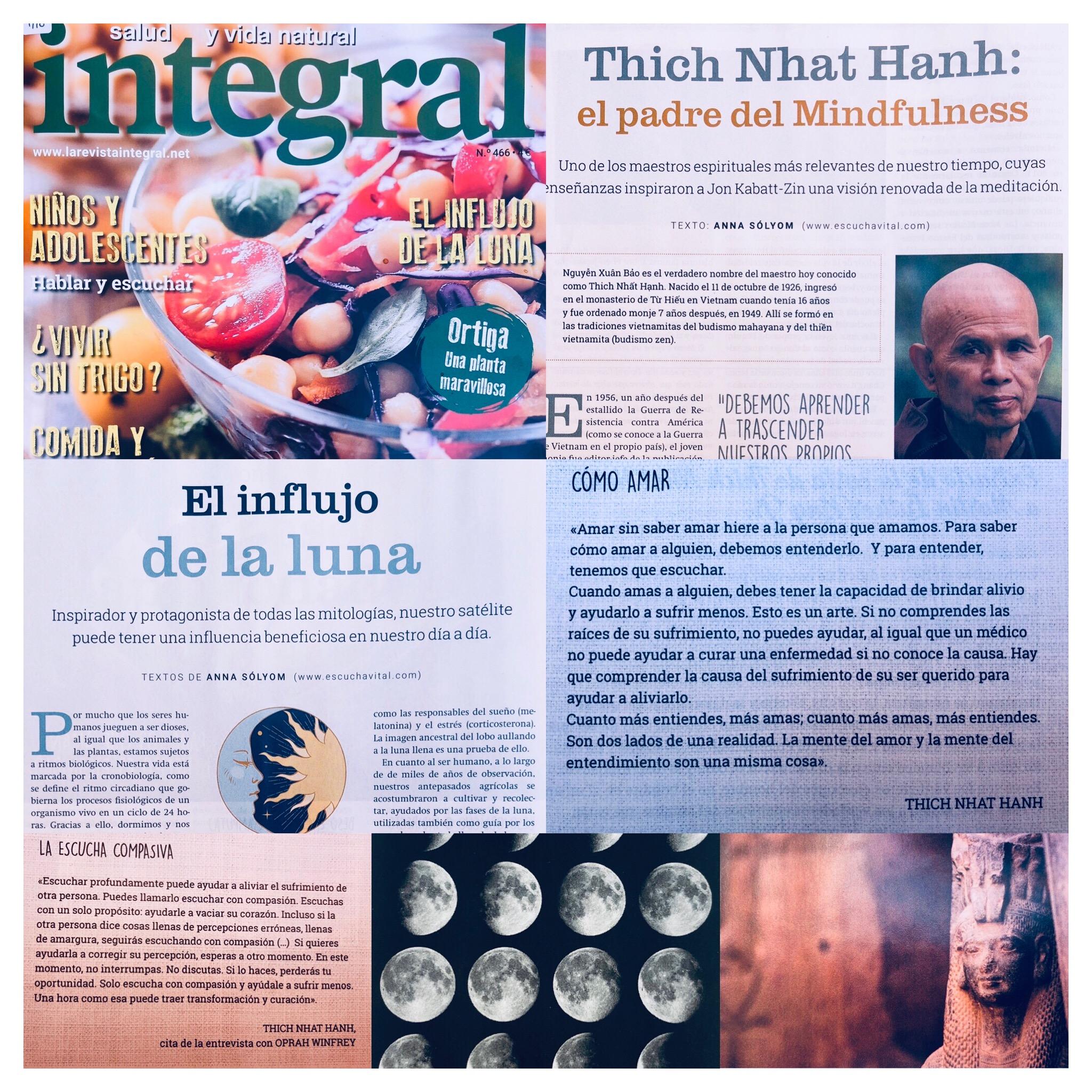 El influjo de la luna y Thich Nhat Hanh
